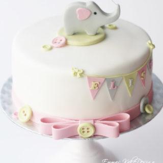 Hvordan lage en søt elefant til dåpskaken!
