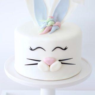 Årets påskekake - Søt kaninkake!